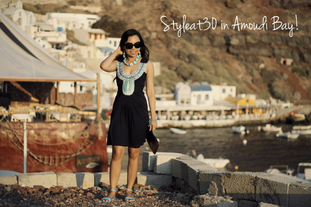 Styleat30 in Amoudi Bay Featuring the Sunset Tavern, Santorini
