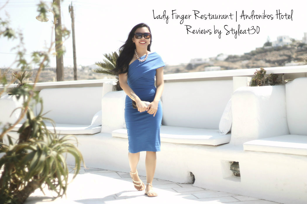Brunch at the Lady Finger, Andronikos Hotel, Mykonos
